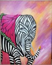 C, Vermeer zebra olifant